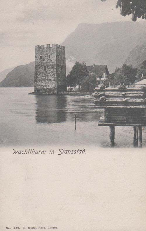 Wachtthurm In Stansstad Nidwalden Antique Switzerland Swiss Postcard