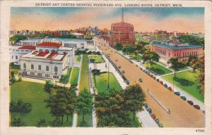 Detroit Art Center Showing Woodward Avenue Looking South Detroit Michigan 1958