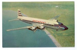 Northeast Airlines Sunliner Vintage Postcard