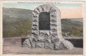 West Virginia Wheeling McColloch's Leap and Monument