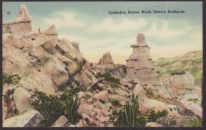Cathedral Buttes,North Dakota Badlands Postcard