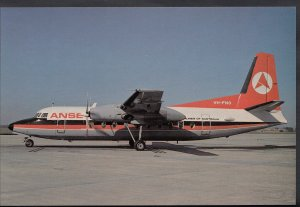 Aviation Postcard - Ansett Fokker F27 Aeroplane - C/N 10304 VH-FNO  - A8292