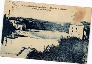 CPA VILLENEUVE-sur-LOT-Moulins de Madame Chateau de Massanes (263954)