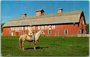 North Platte, Nebraska Postcard Famous SCOUTS REST RANCH Buffalo Bill 1964 RPO