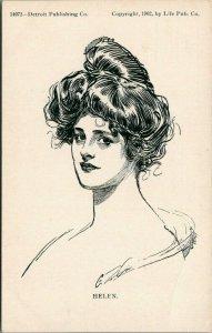 Charles Dana Gibson~Helen~Head Study Profile~#14072 Detroit Pub Co~1902 PC