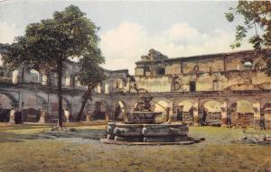 E39/ Antiqua Guatemala Postcard c1920s Patio de las Ruinas de Santa Clara 1