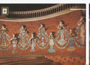 Postal 046311 : Esculturas y mosaicos del hemiciclo. Palau de la Musica Catal...