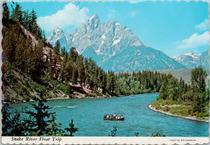 Snake River Float Trip Tetons Jackson Hole Wyoming WY c1977 Postcard D92