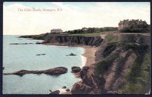 Cliffs South Newport Rhode Island unused c1910's
