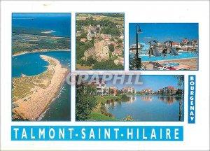 Modern Postcard La Cote de Lumiere Bourgenay Talmont Saint Hilaire (Vendee)
