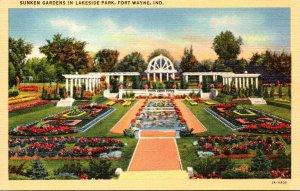 Indiana Fort Wayne Sunken Gardens In Lakeside Park Curteich