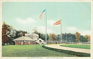 CONCORD NEW HAMPSHIRE~ST PAUL'S SCHOOL-LOWER GROUNDS-BASEBALL? ~1920s POSTCARD