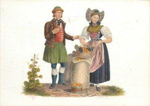 Switzerland swiss early folk costumes ethnic types Thurgau