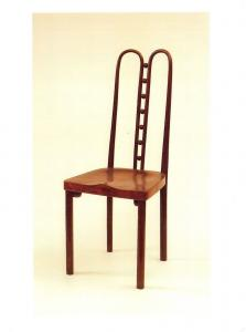 Postcard Czechoslovak-Austrian Seven-Ball Side Chair c1906 by Josef Hoffmann K74