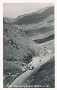 RPPC Honister Pass looking towards Buttermere - Lake District, Cumbria, England