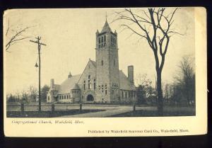 Wakefield, Massachusetts/Mass/MA Postcard, Congregational Church