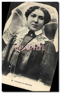 Old Postcard Folklore Limousine in Barbichet