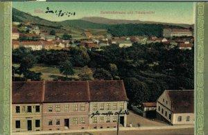 Czech Republic Bilin Bahnhofstrasse und Totalansicht Bílina 05.21