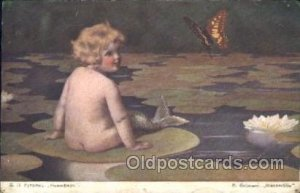 Russian Artist Signed Bessie Pease Gutmann, Russian Mermaid writing on back i...