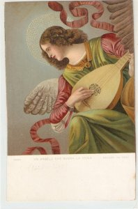 MELOZZO DA FORLI. Angelplaying the viola Fine painting, vintage Italian PC