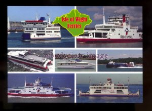FE2673 - Isle of Wight Ferries & Hovercraft - Multiview postcard