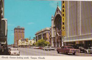 Florida Tampa Florida Avenue Looking North 1970