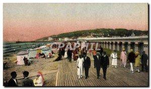 Postcard Old flowery Deauville Beach New bathroom Beach