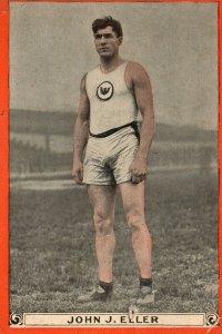 1880s-90s John J. Eller Runner Pan Handle Scrap World Champ Athletes Trade Card