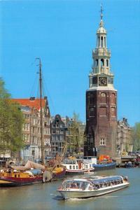 Postcard Montelbaan Tower Amsterdam, Holland, Netherlands L12
