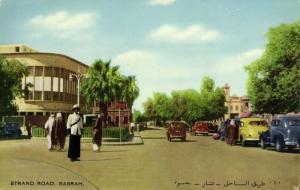 iraq, BASRA BASSORAH البصرة, Strand Road, Cars (1950s) Postcard