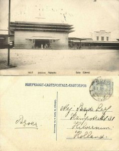 indonesia, JAVA SURAKARTA SOLO, Balapan Railway Station (1930) Kuwai & Co.
