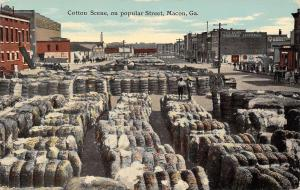 Macon Georgia~Cotton Bales~Adams Wholesale Groceries~Quaker Oats (Obscured)