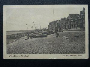East Sussex SEAFORD The Beach c1909 Postcard by Wyndham Series