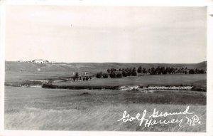 LPS82 Harvey North Dakota Golf Course Vintage Real Photo Postcard