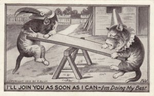 AS: Two Cats on a see-saw, PU-1914