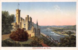 Stolzenfels am Rhein Schloss Castle River Boats Bateaux Chateau Panorama