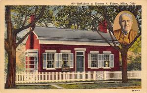 Birthplace of Thomas A. Edison, Milan, OH, USA 1956