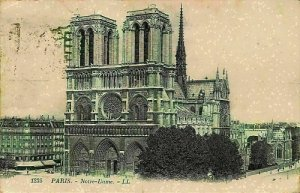 France Paris Notre Dame Church Eglise Postcard