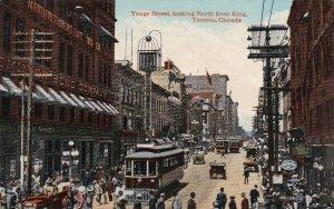 Canada Ontario Toronto Trolley Yonge Street Looking North From King Street s3032