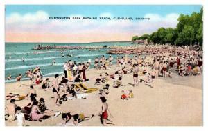 1942 Huntington Park Beach, Cleveland, OH Postcard *5N22