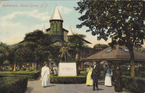 OCEAN GROVE, New Jersey; Auditorium, Stokes Statue, PU-1910