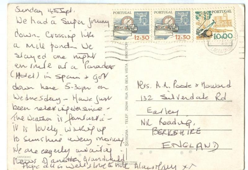 Portugal, Carvoeiro, used Postcard
