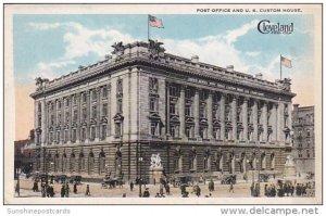 Ohio Cleveland Post Office and U S Custom House 1922 Curteich
