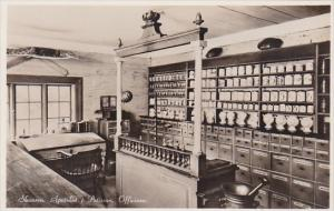Sweden Skansen Apoteket i Petissan Office Drug Store Interior Real Photo