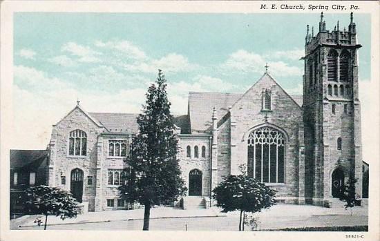 M E Church Spring City Pennsylvania