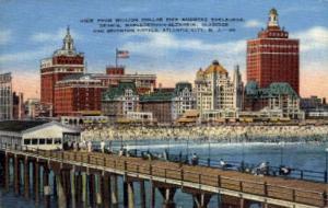 View from Million Dollar Pier Atlantic City NJ Unused