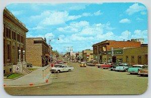 Rawlins Wyoming~Cedar Street East~Gambles~Pacific Power~Classic Cars~1950s