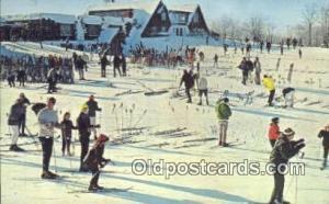 Summit Chalet, Indian Head Mountain, Bessemer, MI USA Ski, Skiing Postcard Po...