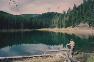 Fishing On Packsaddle Lake Teton Valley Idaho
