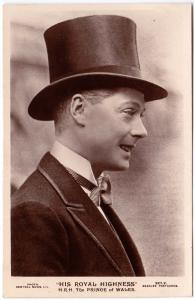 RPPC - His Royal Highness, H.R.H. The Prince of Wales